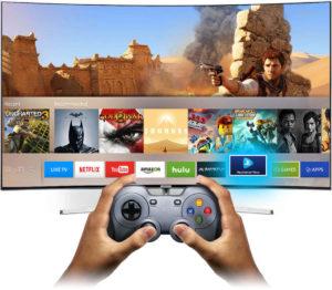 У Смарт ТВ возможен запуск игр и эмуляторов старых игровых консолей