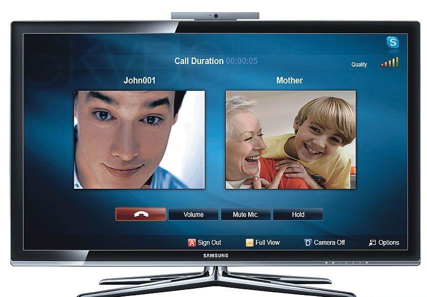 Через Смарт ТВ можно общаться в Skype