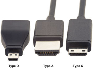 3 типоразмера кабеля