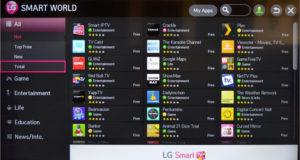 «LG Smart World» - официальный магазин программ