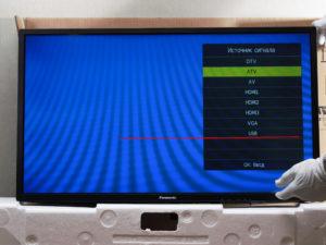 Выбор источника сигнала - USB
