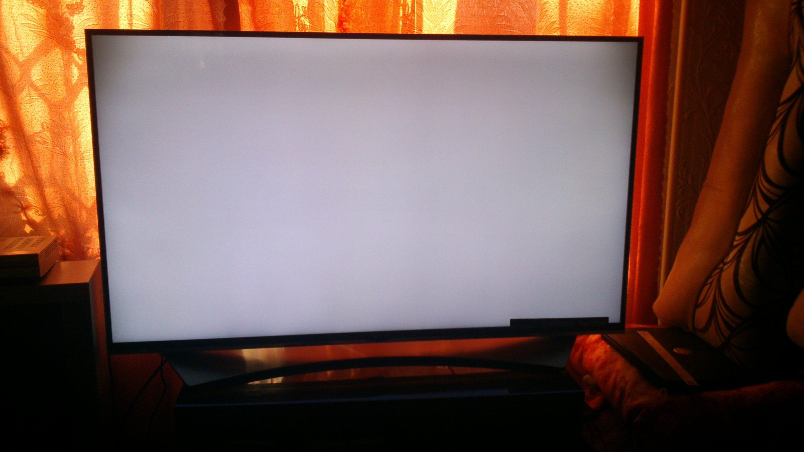 Темные пятна на экране телевизора